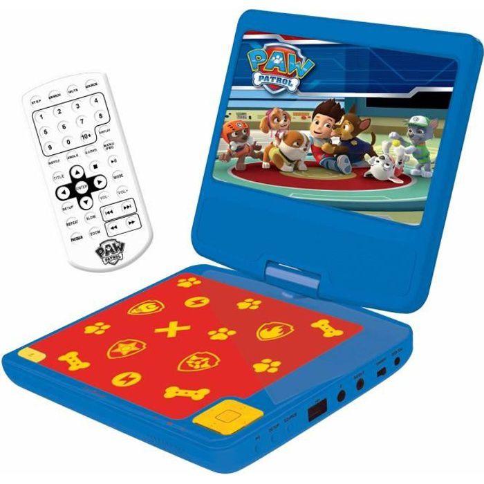 """PAT' PATROUILLE Lecteur DVD portable enfant écran LCD 7"""" LEXIBOOK - batterie rechargeable"""