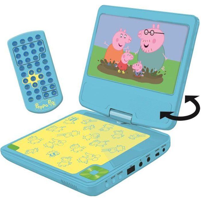 LEXIBOOK Peppa Pig Lecteur DVD portable pour enfant avec port USB