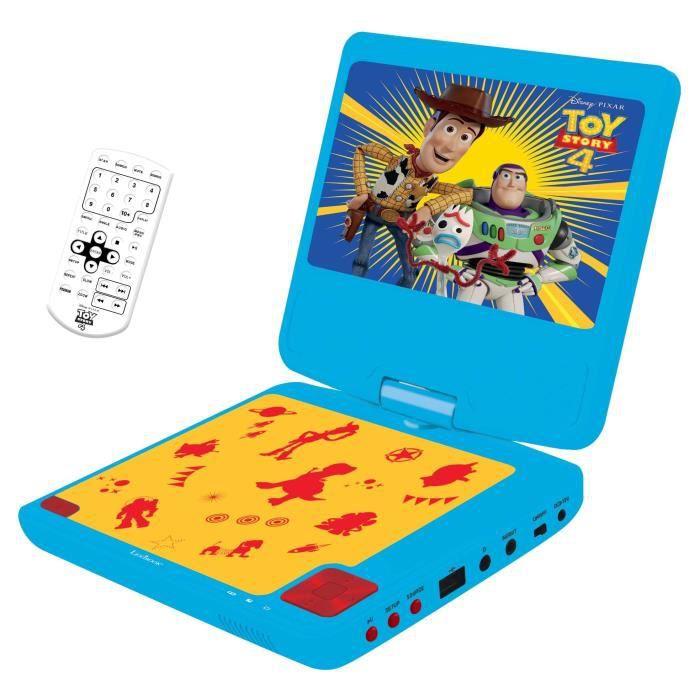 """TOY STORY 4 Lecteur DVD portable enfant écran LCD 7"""" LEXIBOOK - batterie rechargeable"""