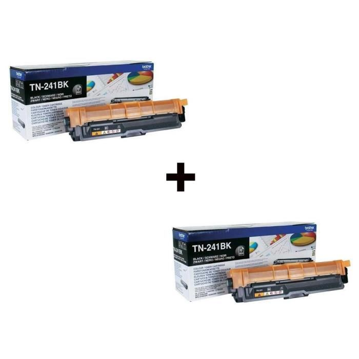 2 x Brother TN-241 Toner Laser Noir