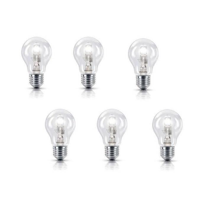 PHILIPS Lot de 6 ampoules Eco E27 28 W équivalent à 35 W