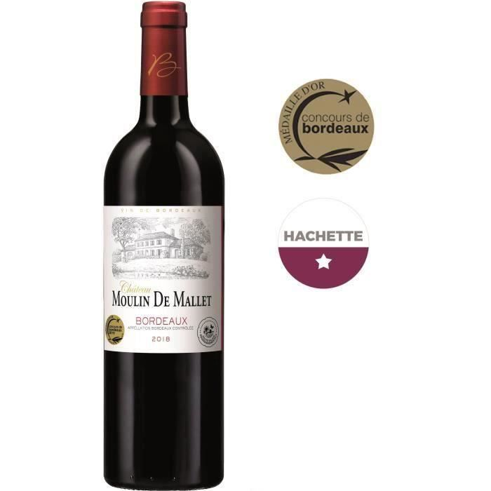 Château Moulin de Mallet 2018 Bordeaux - Vin rouge de Bordeaux