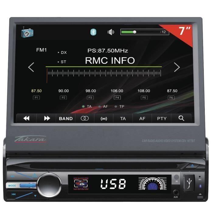 TAKARA CDV1877BT Autoradio 7- Bluetooth Multimédia