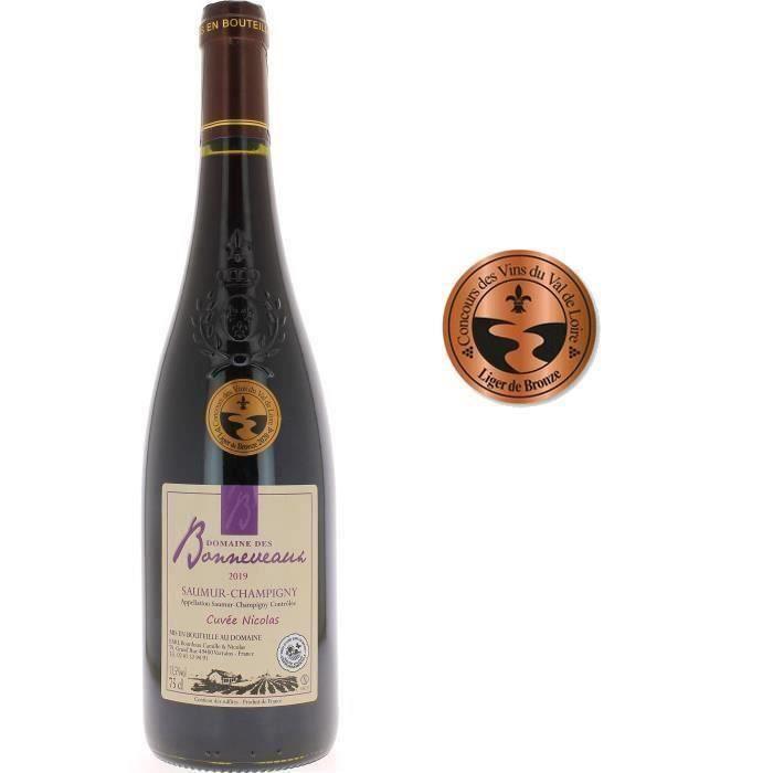 Domaine des Bonneveaux Cuvée Nicolas 2019 Saumur-Champigny - Vin rouge de Loire