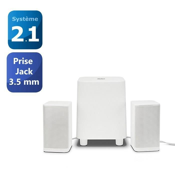 hp 2 1 enceinte pc s7000 blanc prix pas cher cdiscount. Black Bedroom Furniture Sets. Home Design Ideas