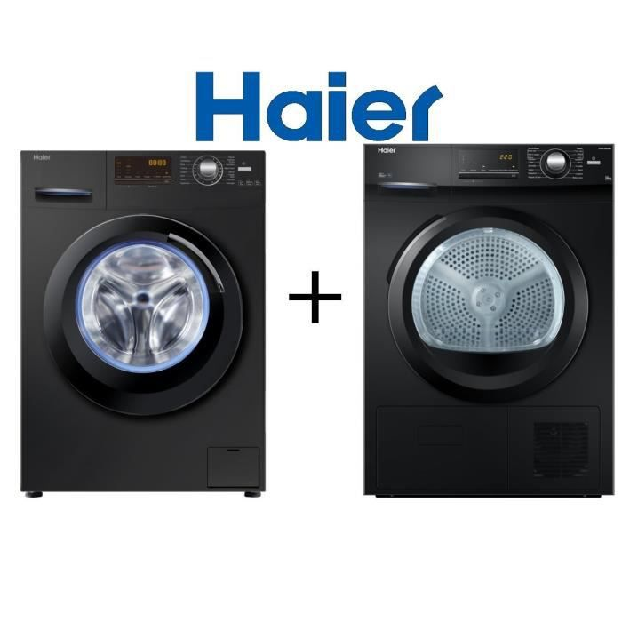 haier pack lavage w836b lave linge frontal 8 kg 1400 electrom nager. Black Bedroom Furniture Sets. Home Design Ideas