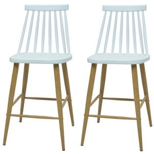 TABOURET DE BAR FINLANDEK Lot de 2 tabourets de bar KATTY - Blanc