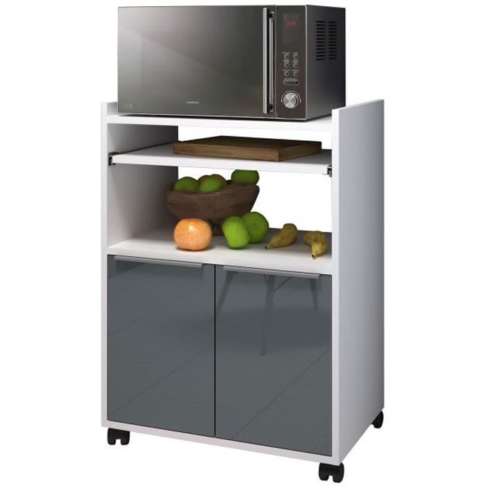 lova desserte de cuisine l 60 cm gris brillant achat. Black Bedroom Furniture Sets. Home Design Ideas
