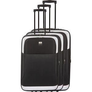 SET DE VALISES FRANCE BAG - Set de 3 valises extensibles 2 roues