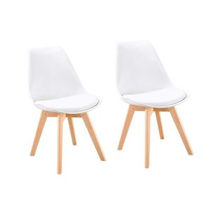 CHAISE BJORN Lot de 2 chaises de salle à manger - Simili