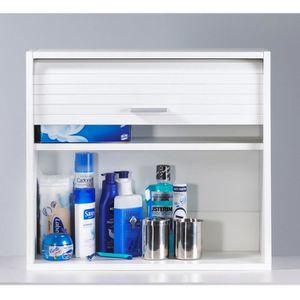 MEUBLE BAS COMMODE SDB COOL Meuble de salle de bain ou WC 60x25 cm - Blan