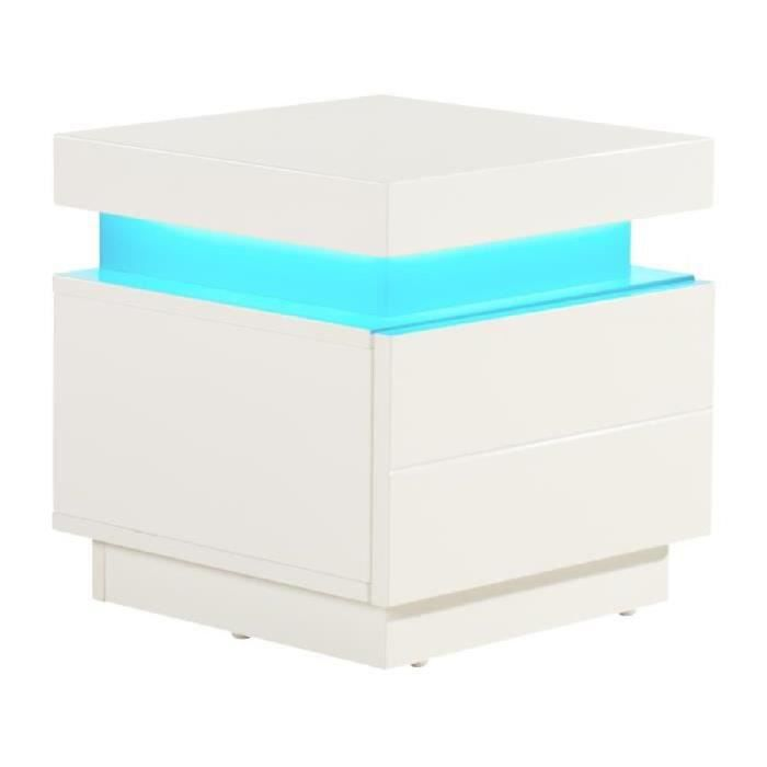 flash chevet led 40 cm led multicolore blanc brillant. Black Bedroom Furniture Sets. Home Design Ideas