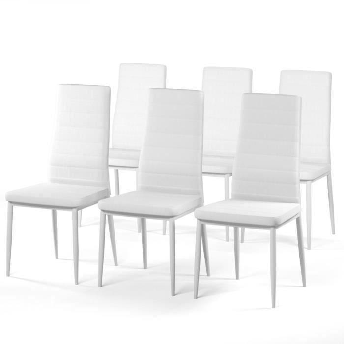 en manger à cm 50 6 blanc contemporain chaises de Style de P 44 SAM Lot salle simili x L hdBotsQrxC