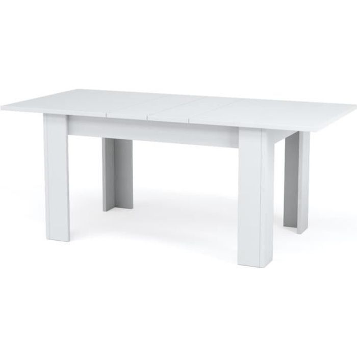 Table carree blanc laque avec rallonge tables de salle a for Table carree rallonge design