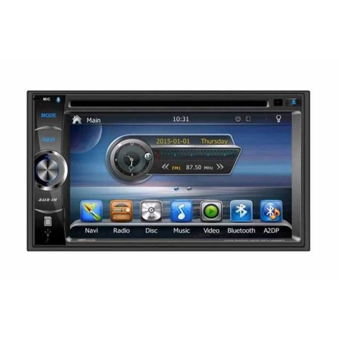 takara gpv1826bt autoradio 2din dvd gps usb bluetooth 6 2. Black Bedroom Furniture Sets. Home Design Ideas