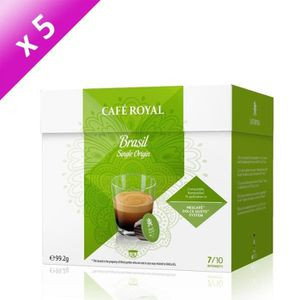 CAFÉ 80 capsules CAFÉ ROYAL de café Single Origine Brés
