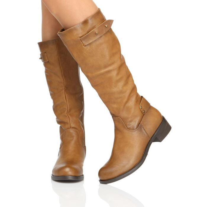 THE DIVINE FACTORY Bottes Femme femme Camel - Achat   Vente THE ... 655a909c7bed