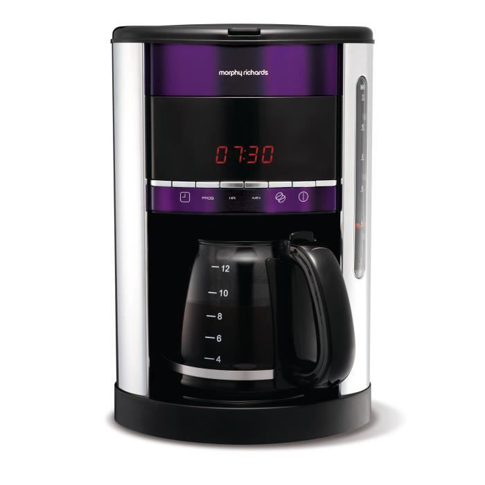 cafeti re programmable morphy richards plum acce achat. Black Bedroom Furniture Sets. Home Design Ideas