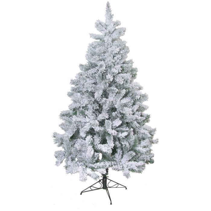 Sapin De Noel Artificiel 120 Cm Sapin de Noël artificiel Floqué   218 branches   120 cm   Blanc