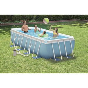 PISCINE INTEX Kit Piscine rectangulaire tubulaire - 4 x 2
