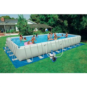 PISCINE Piscine INTEX SILVER ULTRA tubulaire 9.75x4.88x1.3