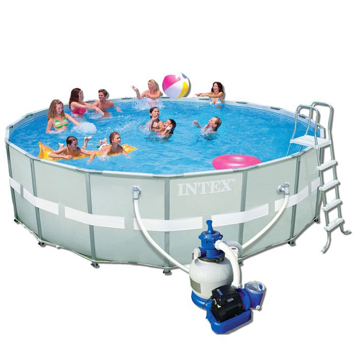 Piscine hors sol ultra frame for Piscine tubulaire intex rectangulaire