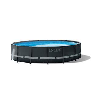 PISCINE INTEX Kit Piscine ronde tubulaire Ultra Frame - 4,