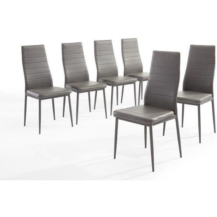 CHAISE SAM Lot de 6 chaises de salle à manger en simili g