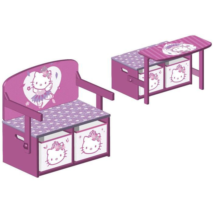 hello kitty banc et bureau enfant 3 en 1 achat vente bureau cdiscount. Black Bedroom Furniture Sets. Home Design Ideas