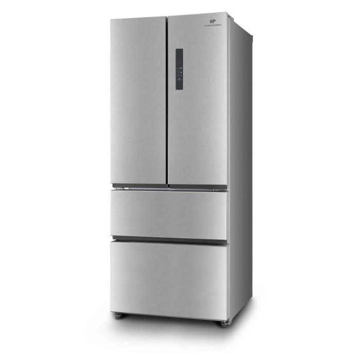 RÉFRIGÉRATEUR CLASSIQUE CONTINENTAL EDISON RAF396IX Réfrigérateur multi-po