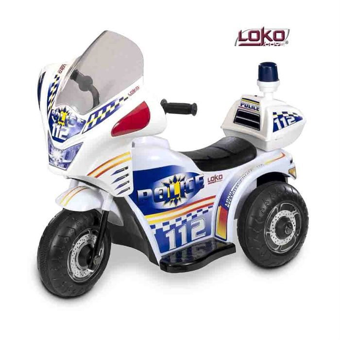 moto de police electrique enfant achat vente moto scooter cdiscount. Black Bedroom Furniture Sets. Home Design Ideas