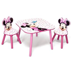 TABLE ET CHAISE MINNIE - Ensemble Table et 2 Chaises Bois Enfant -