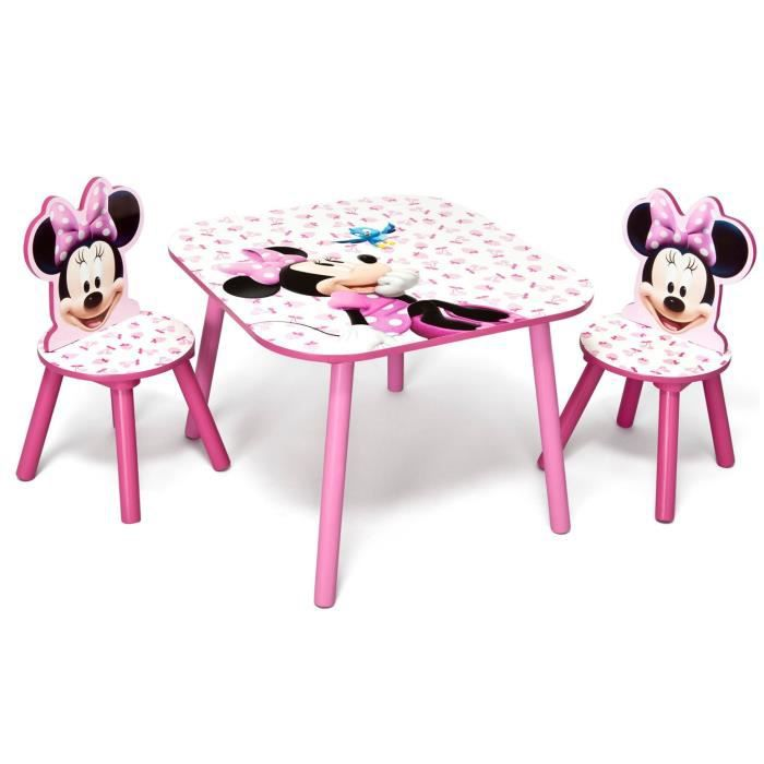 Delta children minnie table enfant et 2 chaises enfant en for Table et chaise bebe 2 ans