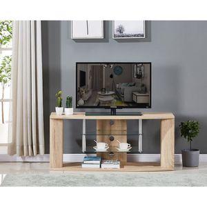 MEUBLE TV Meuble TV en bois décor sonoma naturel - Etagére e