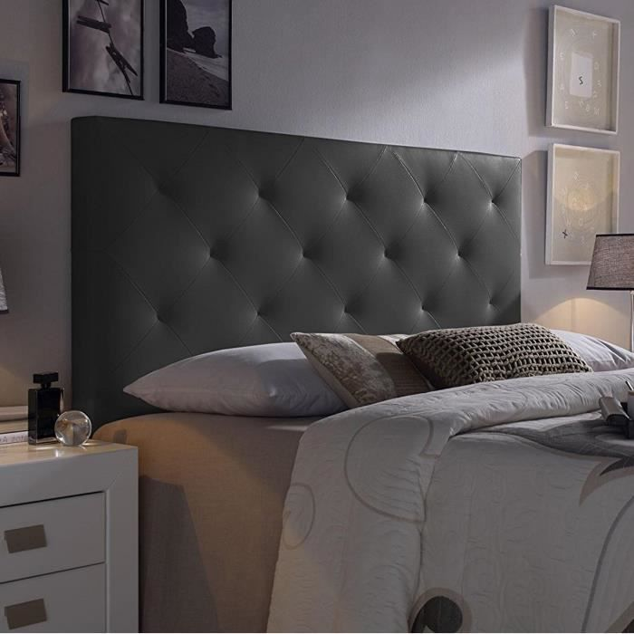 t te de lit noir achat vente t te de lit noir pas cher. Black Bedroom Furniture Sets. Home Design Ideas