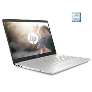 "Achat PC Portable HP PC Portable 15-dw0006nf - 15.6"" HD TN - Intel Core i3-7020U - RAM 4 Go - Stockage SSD 128 Go - AZERTY - Windows 10 - Argent pas cher"