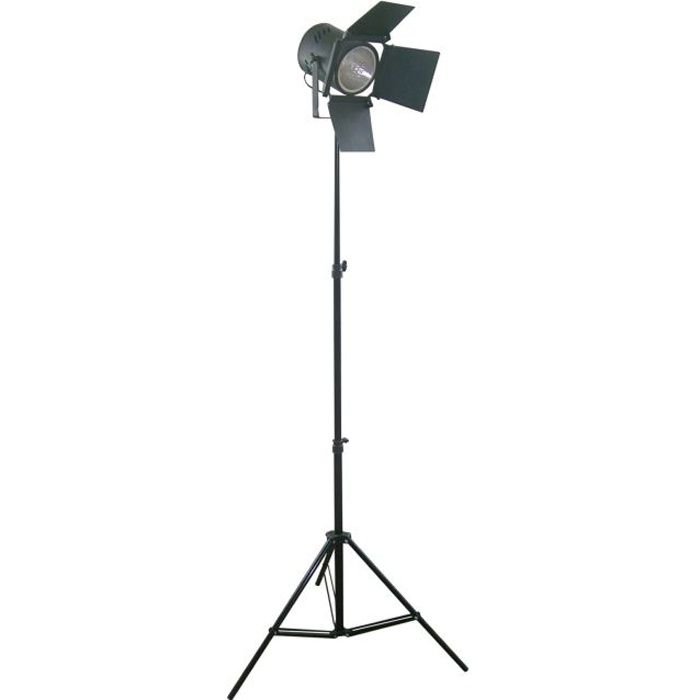 Studio lampadaire cin ma tr pied t lescopique 120 cm 200 for Lampe projecteur cinema sur trepied