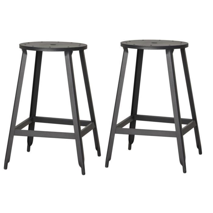 tabouret de bar metal achat vente tabouret de bar metal pas cher cdiscount. Black Bedroom Furniture Sets. Home Design Ideas