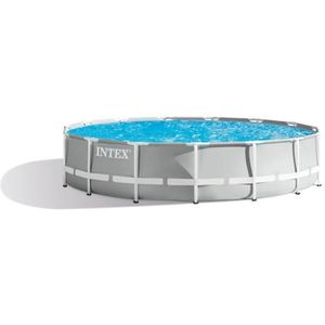 PISCINE INTEX Kit piscine tubulaire Prism Frame - 457 x 12