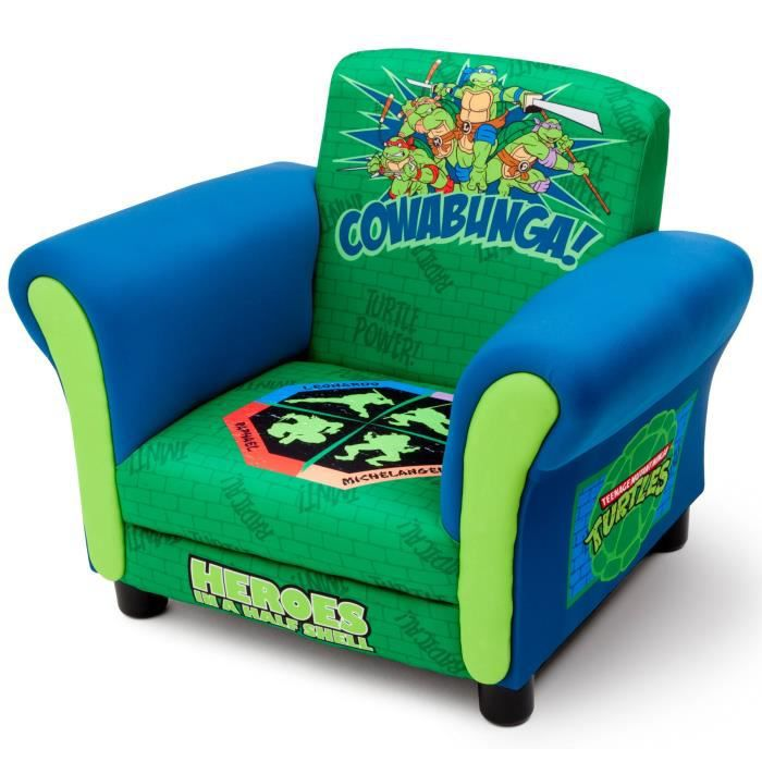 tortues ninja fauteuil chesterfield enfant bleu et vert. Black Bedroom Furniture Sets. Home Design Ideas