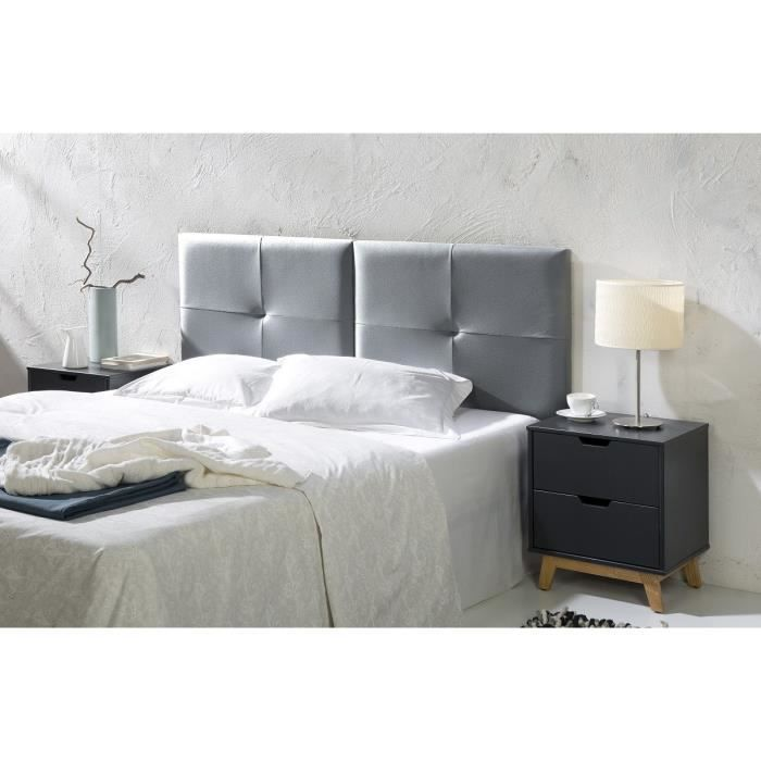 capi t te de lit 160 cm en simili coloris argent achat vente t te de lit capi t te de lit. Black Bedroom Furniture Sets. Home Design Ideas