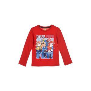 T-SHIRT PAT'PATROUILLE T-shirt Manches Longues - Rouge