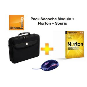 SACOCHE INFORMATIQUE Urban Factory sacoche + souris + Anti virus