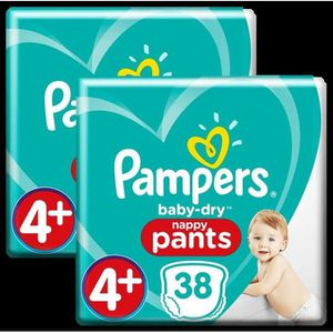 COUCHE Couches Pampers Baby-Dry Pants Géant Taille 4+ x38