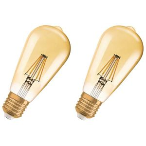 AMPOULE - LED OSRAM Lot de 2 Ampoules LED E27 vintage édition 19