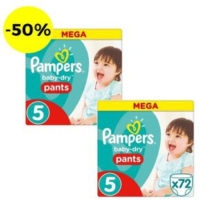 COUCHE PAMPERS Baby Dry Pants Taille 5 - 144 couches - Lo