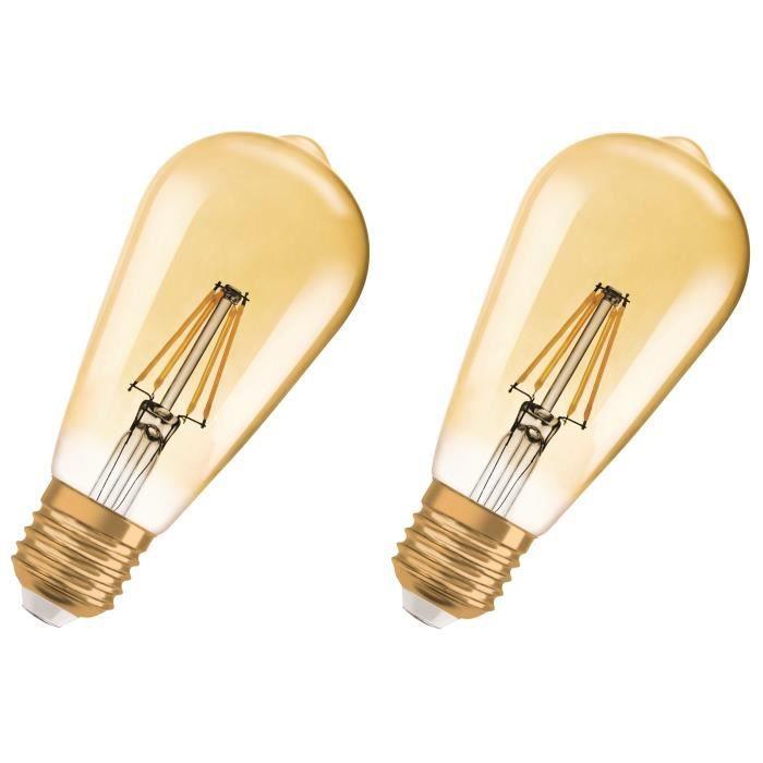 AMPOULE - LED OSRAM Lot de 2 Ampoules LED E27 vintage édition 19