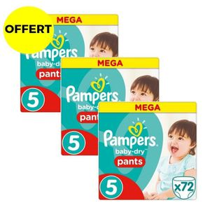COUCHE PAMPERS Baby Dry Pants Taille 5 - 12 à 18kg - 216