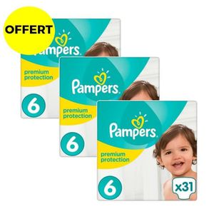 COUCHE PAMPERS Premium Protection Taille 6 - Lot de 3 Géa