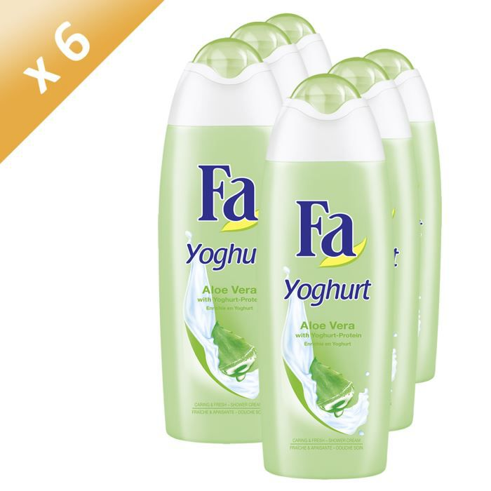 fa gel douche yoghurt aloe vera 250ml x6 achat vente gel cr me douche fa gel dch yog. Black Bedroom Furniture Sets. Home Design Ideas